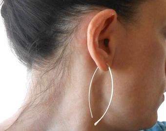 Large Sterling Silver Hoop Earrings 54682b83e9e6