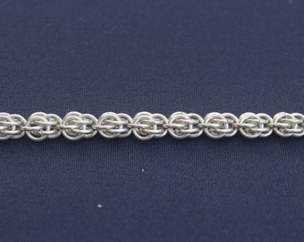 Sterling Silver 'Sweet Pea' Chainmaille Weave Bracelet