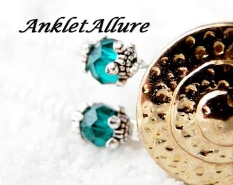 VINTAGE Anklet GOLD Anklet Double Ankle Bracelet Medallion Anklets for Women GUARANTEE Aqua Choker Necklace