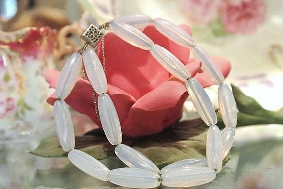 Sea Opal Glass Bracelet