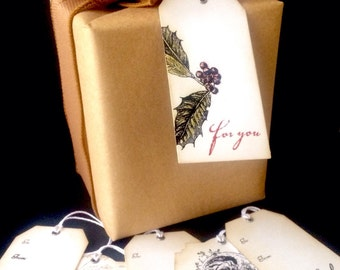 Vintage style Christmas gift tags