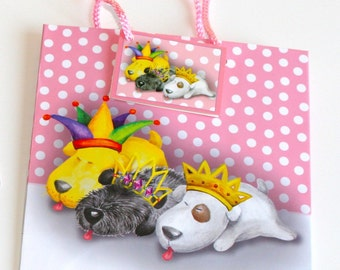 Gift Bags and Coordinating Flat Gift Wrap