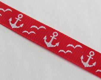 Ribbon pattern anchor red and white