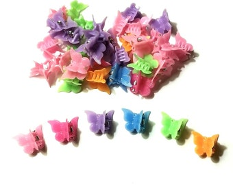 Vintage 90s Butterfly Hair Clips Set Of 12