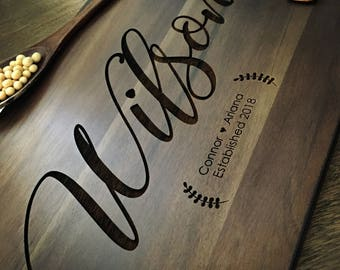 Personalized Cutting Board Personalized Custom Cutting Board Wedding Gift Cutting Board Engraved Cutting Board Anniversary Cutting Board #07