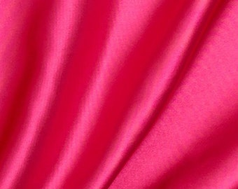 Hot Pink Satin Charmeuse Fabric 60 Inches Wide buy the yard
