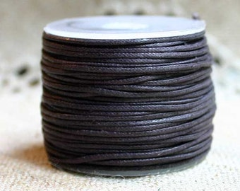 2mm Waxed Cotton Cord Brown 100 Meter Spool