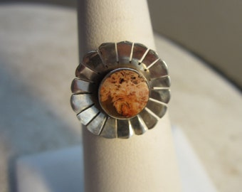 Salmon  Colored Taxco Ring