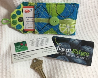 Blue Lime Card Cozi and Key Chain