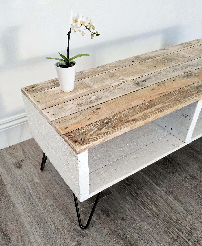 Retro Reclaimed Coffee Table TURVAS Rustic Pallet Wood