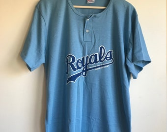 Vintage Kansas City Royals Blue Swingster Baseball Tee Shirt Size XL