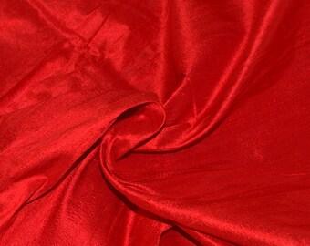 Silk dupioni in Scarlet Red- Fat Quarter - D 178