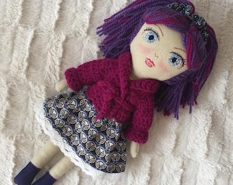Handmade doll , Heirloom doll.