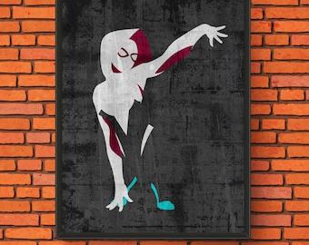 Minimalism Art - Spider-Gwen Print