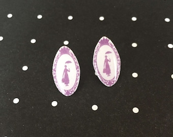 Mary Poppins Cameo earrings