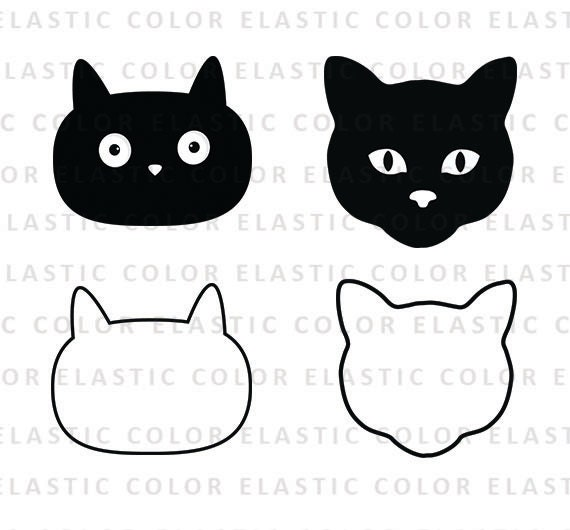 cat face svg cat face clipart cat face digital vector svg rh etsy com cat face clipart black and white free cat face clipart images