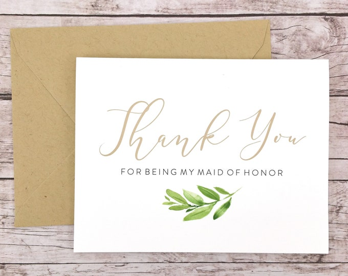Thank You For Being My Maid of Honor Card (FPS0060)
