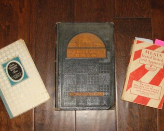 3 Cookbooks your Choice Good Housekeeping Meals 1930 General Electric Menus 1927 Household Searchlight Recipe Book 1940 Baking Dinner Entree
