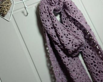 Crochet Scarf Pattern, Lavender Lace Scarf Pattern, Lace Crochet Pattern - Crochet scaft PDF Pattern, Instant Download, UK and US Terms