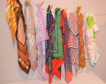 Vintage Scarf Collection Trends for Every Era.......Ten Pieces