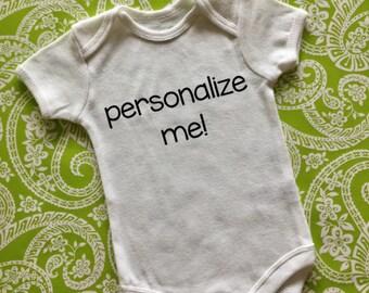 Personalized Onesie, Custom Onesie, Baby Announcement, Baby Bodysuit, Gender Neutral Baby Clothes, Announcement Onesie, Custom Baby Onesie
