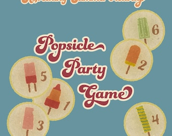 Printable gift for kids. Board game for children. Popsicle travel game, instant download!