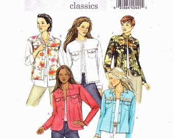 Butterick 4741 Misses/Misses Petite Loose Fitting Jacket with Front Yoke and Neckline Variations,