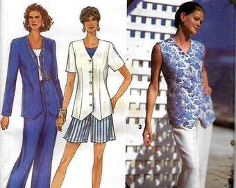 Simplicity 8487       Misses Pants, Shorts, Top     Size 10-16      Uncut