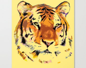 Tiger - Power Animal  Gallery Quality Streched Canvas