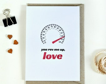 Valentine's Day card // love card // car lover gift // funny handmade greeting card