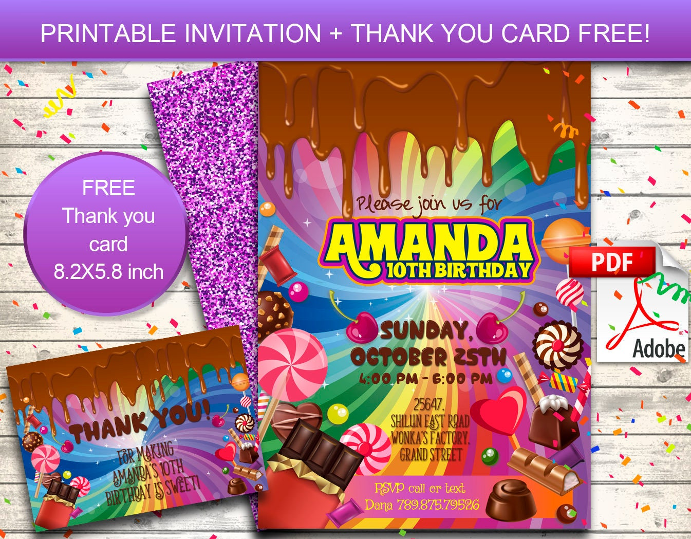 Printable Wonka Bar Wrapper Sample Documents