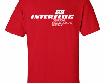 Interflug Airline East Germany T-Shirt