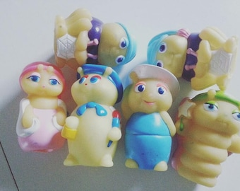 Vintage, 1980s, Glo Friends, choose style, glow in the dark, glo bug, playskool, glo worm, 1986, 1988, NewellsJewels On etsy