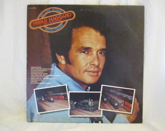 Merle Haggard and the Strangers My Love Affair with Trains Record LP Album