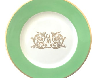 Vintage Dorothy Draper Designed Dinner Plate from The St Anthony Club in The San Antonio Hotel TX