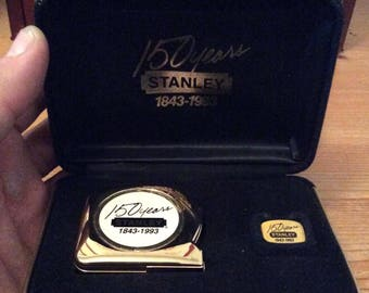 Stanley 150 Year Commemorative Tape Measure and Pin in Presentation Box
