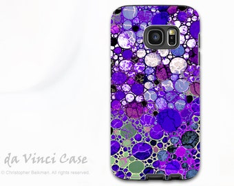 Purple Case for Samsung Galaxy S7 - Premium Dual Layer Galaxy S 7 Case with Abstract Art - Grape Bubbles - Galaxy S7 Case by Da Vinci Case