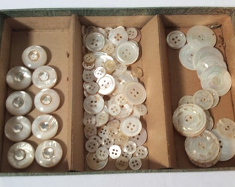 Large lot of Mother of Pearl buttons - 3 sets