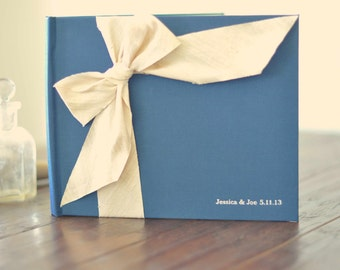 Wedding Album - Wedding Scrapbook Guest - Silk Dupioni Bow by Claire Magnolia