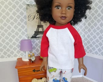 Beach Bus Pajamas for 18-Inch Dolls Such As Journey Girls, My Life As, American Girl!