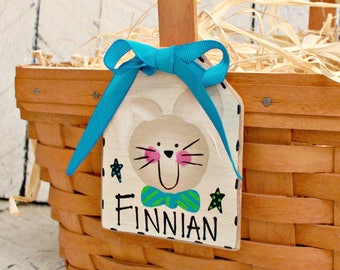 Personalized Easter Basket Tag, Rustic Easter Basket Label, Farmhouse Basket Name Tag, Easter Basket Ideas