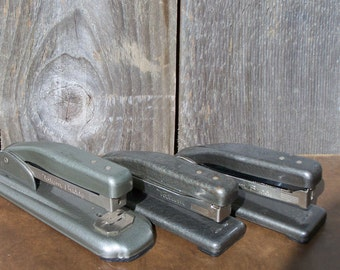 Set of 3 Vintage Tatum Staplers, Instant Collection