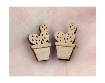 Pattern mini Cactus 16 mm natural wood