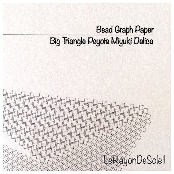 Triangular Template Miyuki Seed Beads Delica Bead Graph Paper