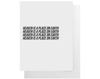 heaven is a place on earth card