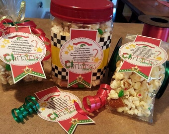 CHRISTMAS CRUNCH Poem & Tags for Individual and Large Treats!