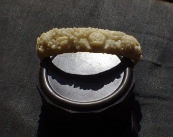 Hand carved Celluloid bangle