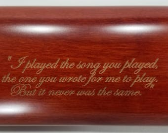 Flute Case, Laser engraved, personalized C foot