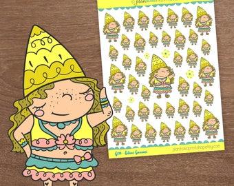Bikini Gnaomi, Gnaomi the Gnome, Gnome Stickers, Beach, Swim, for use with Erin Condren, Happy Planner, Inkwell Press, Bullet Journal