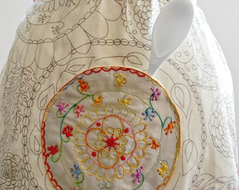 Floral Half Apron, Spring Celebrations, Easter Apron, Home Living, Kitchen Dining Linens, Cleaning Supplies, Gift Ideas, Women's Accessories